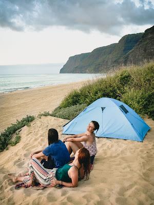 """Kempování na Havaji. """"Za tři dolary na noc? Kecáš!"""" Nekecám."""