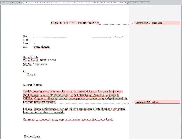 Cara Memberi dan Menghapus Comment Di Ms Office Word