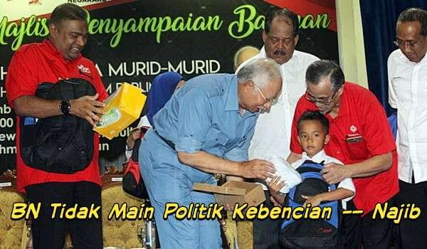 BN Tidak Main Politik Kebencian – Najib