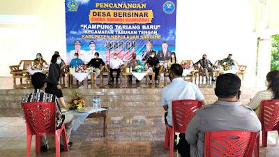 Kampung Tariang Baru Dicanangkan Desa Bersinar, Kapolres Sangihe Ajak Warga Perangi Narkoba