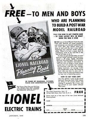Lionel Electric Trains -- Free to Men and Boys