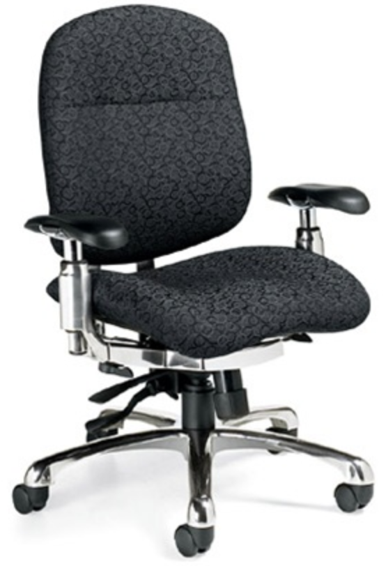 Global Shadow Executive Chair with Seat Adjustment