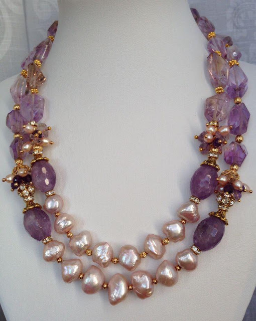 Pearls and Amethyst Necklaces