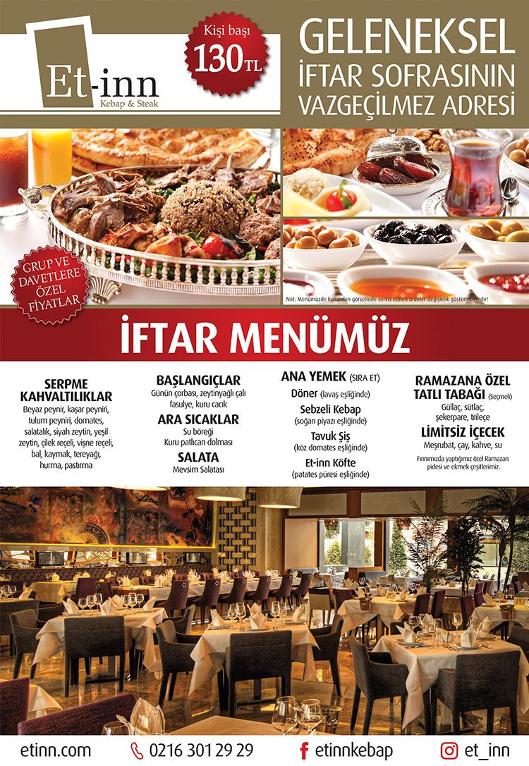 et-inn kebap iftar sahrayıcedid restaurantlar kadıköy ramazan menüleri kadıköy iftar mekanları menüleri