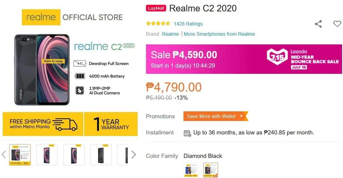 Deal Alert: Realme C2 2020 Will Be On Sale This July 15 for Only Php4,590