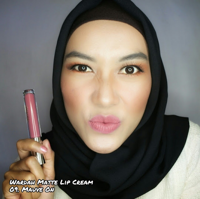 Wardah Exclusive Matte Lip Cream 09. Mauve ON