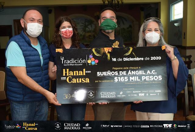 Hanal con Causa 2020 logró recaudar 165 mil pesos entregados a Sueños de Ángel