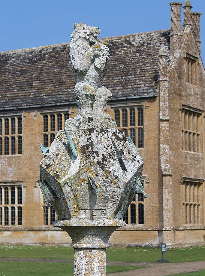 sundial in Barrington Court