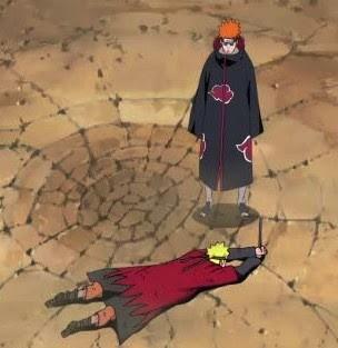Pain, Naruto Shippuden, pertarungan, Naruto Besar, naruto Mati