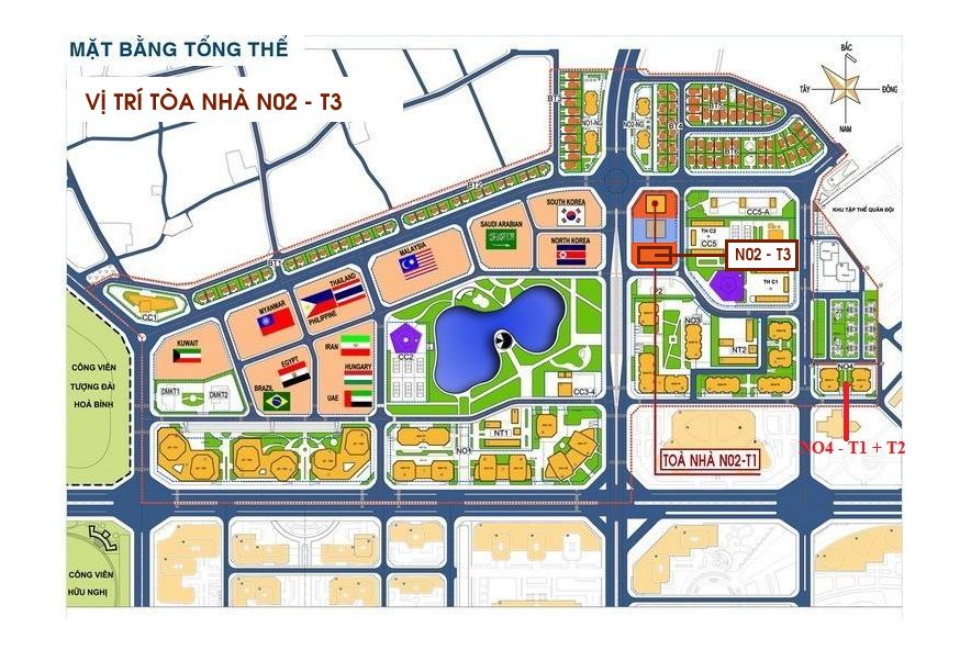 Vị trí đắc địa của chung cư N02T3 Ngoại Giao Đoàn - Quang Minh