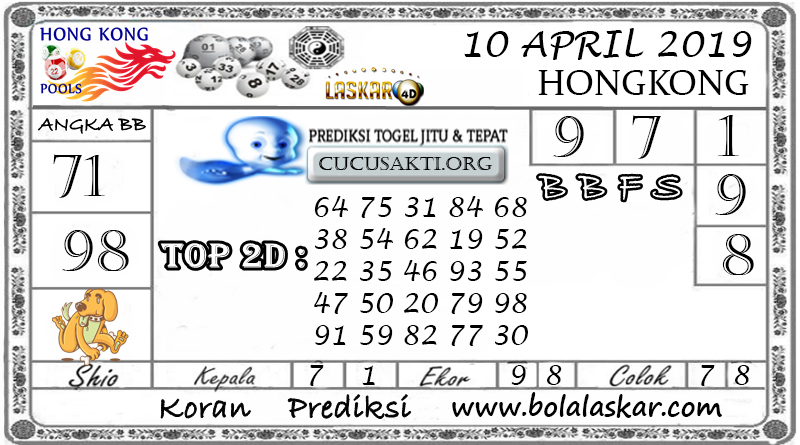 Prediksi Togel HONGKONG LASKAR4D 10  APRIL 2019