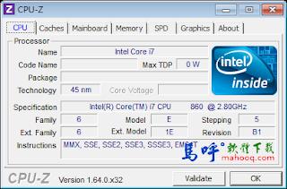 CPU-Z Portable 免安裝,電腦硬體資訊規格檢查工具軟體