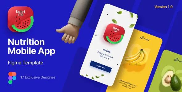 Best Online Nutrition Info Mobile App Template