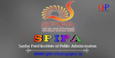 SPIPA UPSC Civil Services Training Entrance Exam (CSSC) Question Paper (25-08-2019)