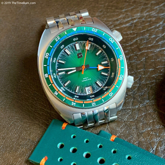 Straton Tourer Quartz GMT green
