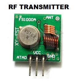 433 MHz RF Transmitter Module | Code | Circuit  | Pin configuration | Program
