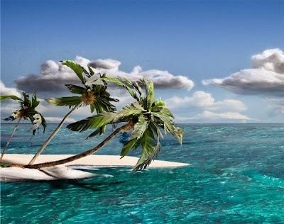 Una isla en medio del mar