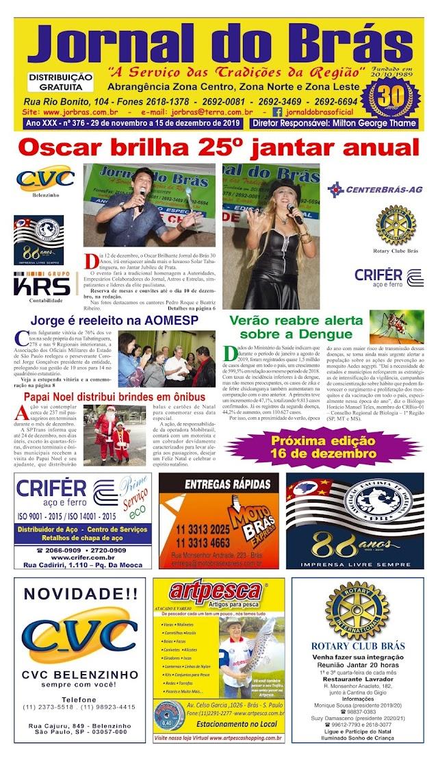 Destaques da Ed. 376 - Jornal do Brás