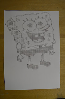 Drawing SpongeBob SquarePants Typewriter