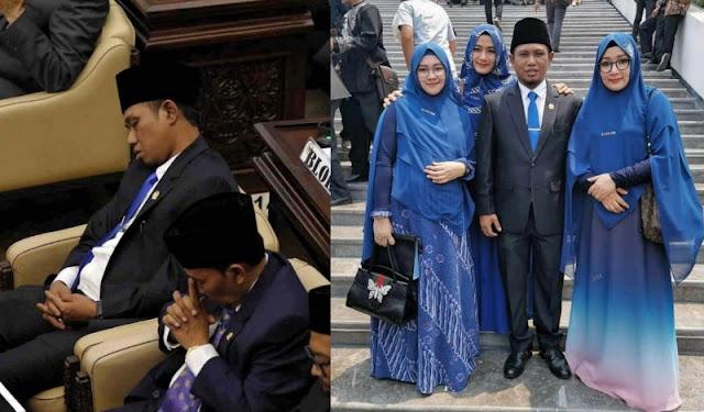 Bawa 3 Istri ke Pelantikan, Anggota DPR Ini Teridur di Sidang Perdananya, Ngaku Kelelahan