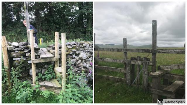 Cumbrian stiles on Dales Way