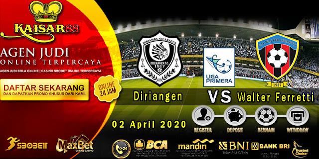Prediksi Bola Terpercaya Liga Nicaragua Diriangen vs Walter Ferretti 02 April 2020