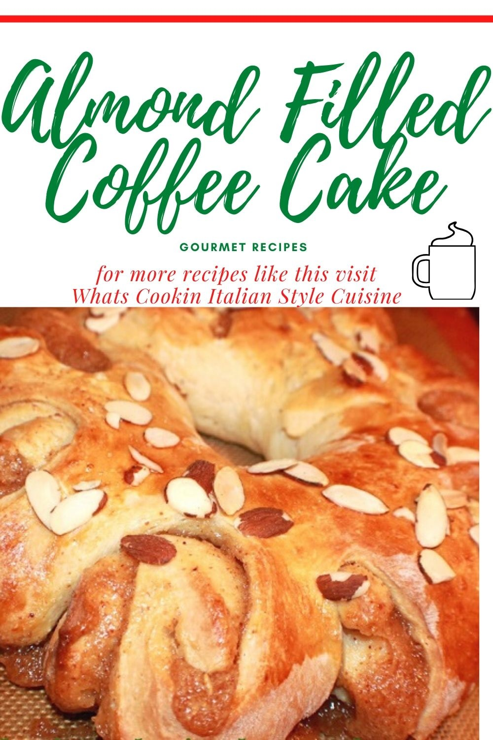 pin for later how to make almond coffee cake