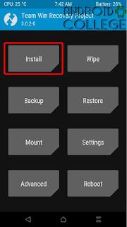 boton install