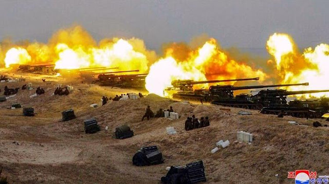 Latihan militer Tentara Rakyat Korea