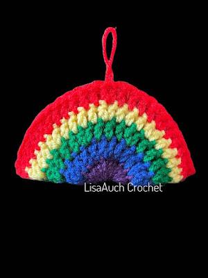 Rainbow crochet pattern medium