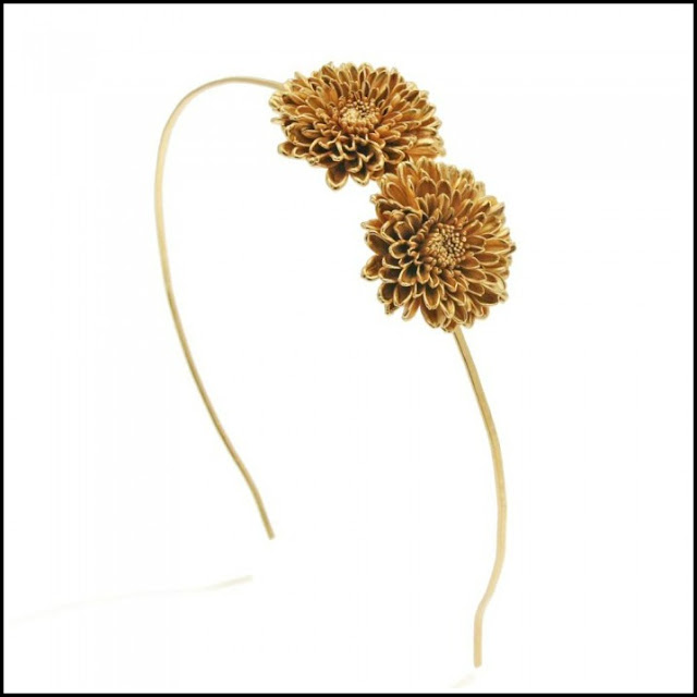 gold floral headbands, floral wedding headbands, floral bridesmaid hair accessories, floral wedding accessories
