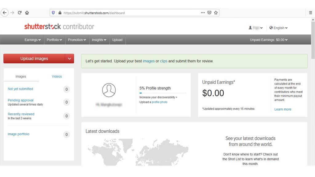 Fajriology.com - Cara mengirim foto ke situs microstock. setelah menekan tombol Sign in, anda akan berada di dashboard khusus untuk anda
