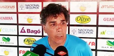Víctor Hugo Andrada, DT de Guabirá. (Foto: Captura de pantalla)