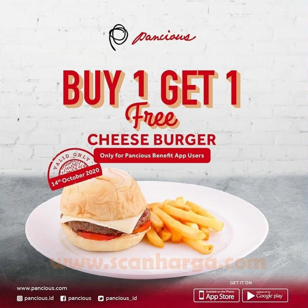 Promo Pancious Buy 1 Get 1 Free Cheese Burger