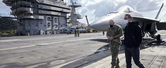 Σούδα: Ο Μητσοτάκης στο USS Dwight D.Eisenhower (7 ΦΩΤΟ-BINTEO)