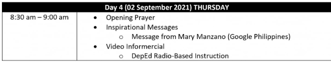 DAY 4 SESSION   SECOND DEPED VIRTUAL INSET   TOPICS & SPEAKERS   SEPTEMBER 2, 2021