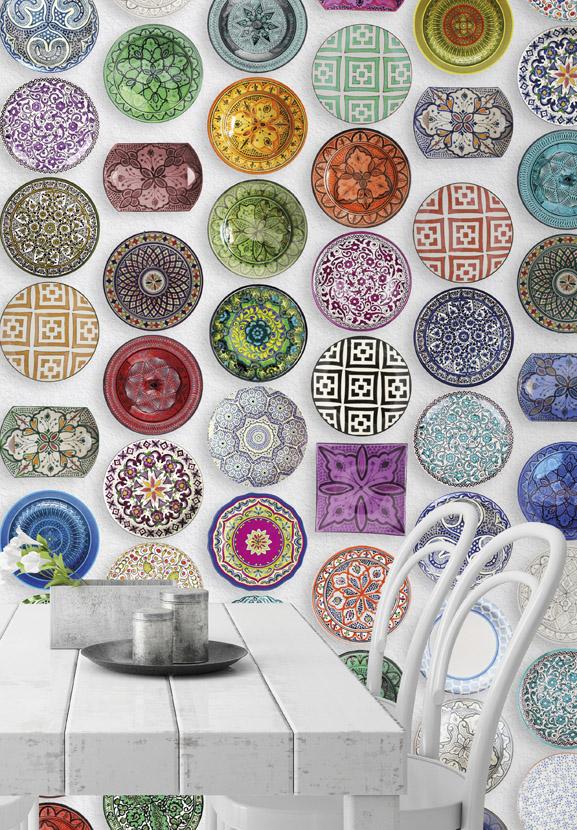 Il priscio del design piatti sulla parete - Piatti da cucina moderni ...