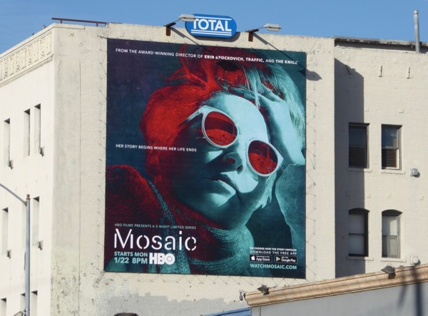 Mosaic series launch billboard