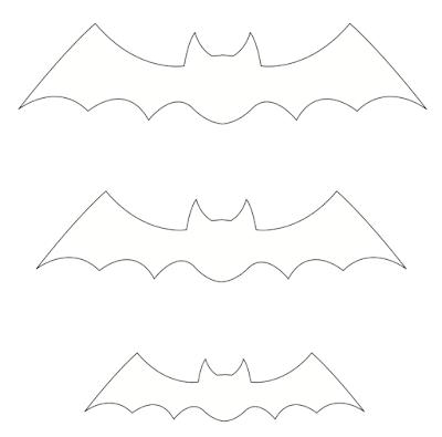 Morcegos de papel para decoração de festa