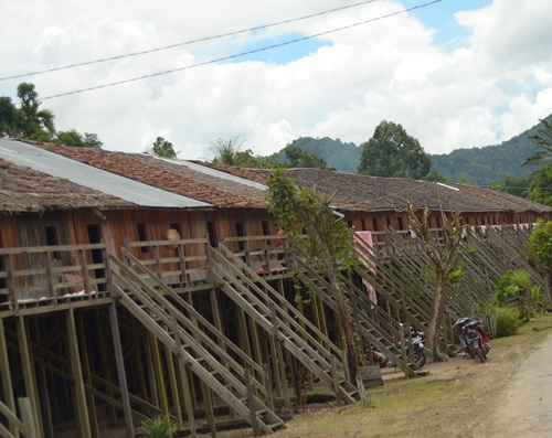 Tinuku.com Travel Saham Radakng or Betang longhouse is one of rare Dayak tribe communal house still in use today