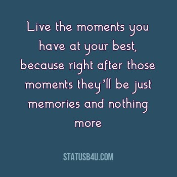 Memories status in english