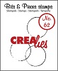 www.crealies.nl Bits & Pieces stempel/stamp no. 62 Big grunge circles 2 aparte stempels / 2 separate stamps