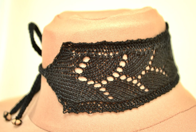 Free Knitting Pattern Lace Choker