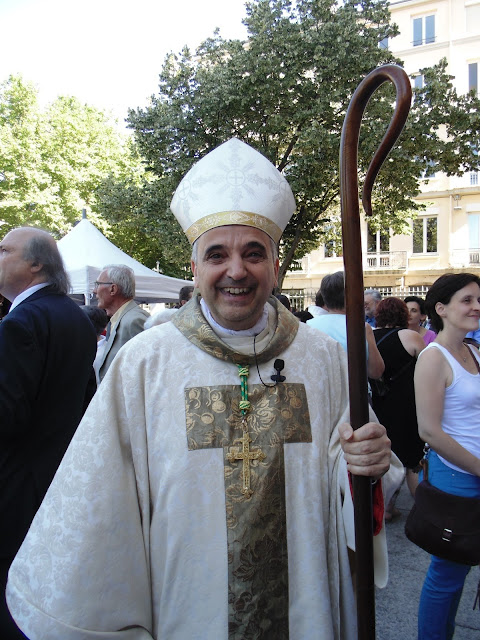 Mgr Dominique Lebrun à Saint-Etienne
