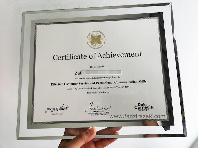 Zul Pergi Kursus Communication Skill