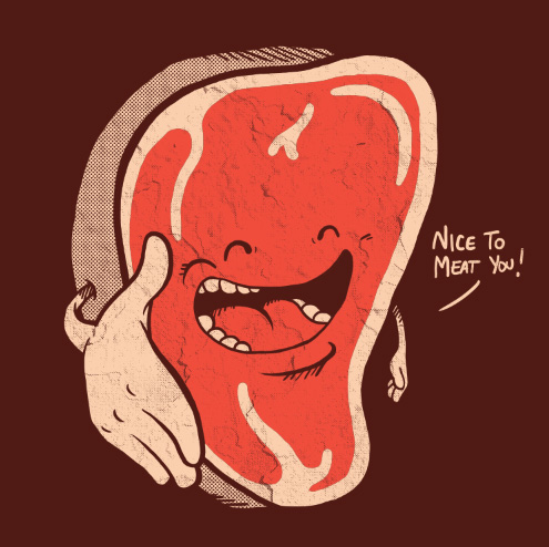 humor grafico nice to meat you