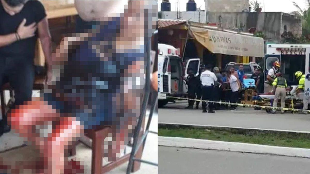 Imagenes; Un muerto y 3 heridos deja balacera en una taquería en Playa del Carmen