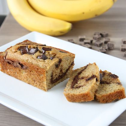 Chocolate Peanut Butter Swirl Banana Bread