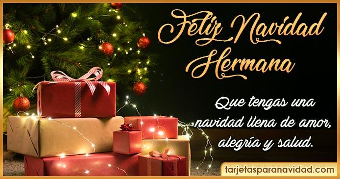feliz navidad hermana