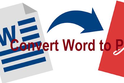 Cara Mengubah Word ke PDF Paling Gampang